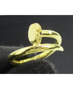แหวน ตะปู ตัดลาย ทอง96.5 งานดีไซน์สวย size 53 นน. 3.80 g