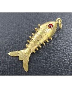 จี้ ปลาทอง ตาแดง ทองK ความหมายดี น่าเก็บสะสม นน. 2.30 g