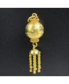 จี้ ลูกโลก ทองคำ พวงเต่ารั้ง ตุ้งติ้ง งานเก่า หลุดจำนำ สวยมาก นน. 3.86 g