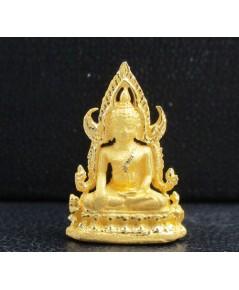 พระพุทธชินราช ลอยองค์ เนื้อทองคำ สวยน่าสะสม นน. 1.54 g