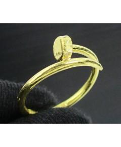 แหวน ตะปู ตัดลาย ทอง96.5 งานดีไซน์สวย size 57 นน. 1.90 g