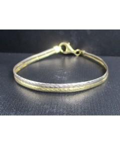 รหัสสินค้า : 050521   สร้อยข้อมือ อิตาลี750 ทอง18K ลายกระดูกงู 2 กษัตริย์ หลุดจำนำ นน. 6.36 g