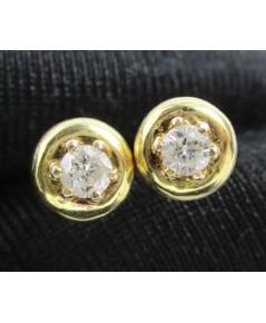 รหัสสินค้า: 50696 ต่างหู เพชรเดี่ยว 2 เม็ด 0.16 กะรัต ทอง14K หลุดจำนำ งานสวยมาก นน. 2.52 g