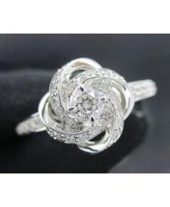 รหัสสินค้า: 50730 แหวน เพชร Jubilee 0.10 กะรัต ล้อมเพชร 38 เม็ด 0.22 กะรัต ทอง18Kขาว นน. 4.36 g