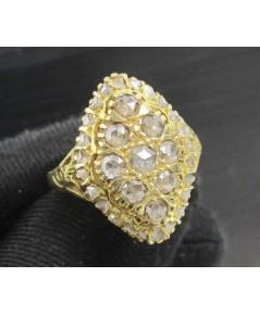 แหวน เพชรซีกลูกโลก ทรงมาคีย์ ทอง90 งานเก่า หลุดจำนำ สวยมาก นน. 6.72 g