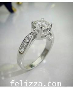แหวนหมั้นเพชรชู (พร้อมใบเซอร์ GIA) RI20519-222