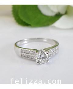 แหวนเพชรแท้เบลเยี่ยมคัท RI00483-223 (ELSZ)
