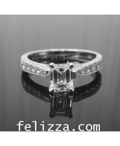 แหวนเพชรแท้ทรง Emerald RI00484-223 (ENSH)