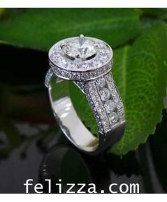 แหวนเพชรเบลเยี่ยมคัท RI20520-224