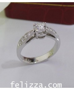 แหวนเพชรแท้เบลเยี่ยมคัท RI00488-227 (HXSH)