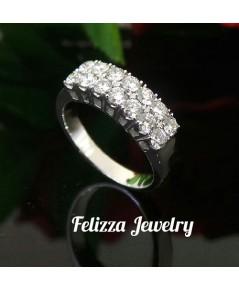 แหวนเพชรแท้เบลเยี่ยมคัท RI00496-229 (HEFZ)