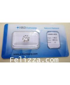 เพชรร่วงใบเซอร์ HRD (D-Y00007)