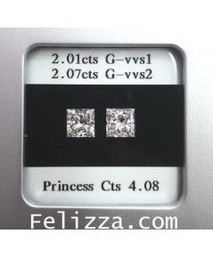 เพชรร่วงใบเซอร์ GIA (Princess  Cut)