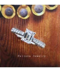 แหวนเพชร Emerald Cut  RI00484-223