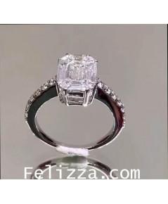 แหวนเพชรแท้เบลเยี่ยมคัท เจียระไนพิเศษ RA-0001