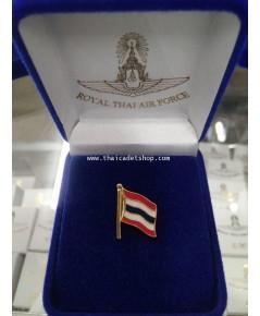 เข็มติดไทด์ธงชาติไทย พร้อมกล่องกำมะหยี่สีน้ำเงิน สวย