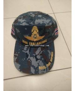 หมวกแก๊ปกองทัพอากาศดิจิตอล ROYAL THAI AIR FORCE BALL CAP HAT HEADGEAR SOLDIER MILITARY