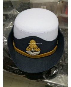 หมวกทหารอากาศหญิง Royal Thai Air Foce Officer Cap Colonel Uniform Captain Women Soldier Military