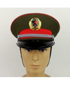 หมวกหม้อตาลนายทหารกองทัพทหารจีน