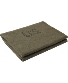 Olive Drab Genuine GI Official US Army Virgin Wool Blanket 62นิ้ว x 82นิ้ว