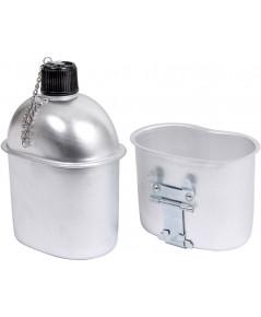 ชุดรับประทานอาหารท่องเที่ยว + ชุดถ้วยน้ำดื่ม, ที่รองแก้ว Quart อลูมิเนียมปิ้ง Hiking Emergency