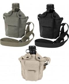 กระติกน้ำสนาม GI Military 1 กระติกน้ำควอร์และผ้าใบ Vintage Canvas Canteen Cover with เลือกแบบ 1 ชิ้น