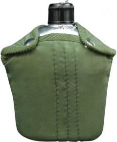 กระติกน้ำสนาม อลูมิเนียมและ Olive Drab Cover