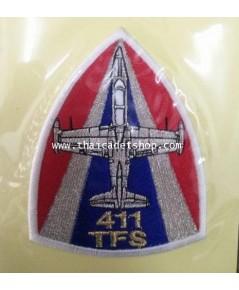 อาร์มผ้ากองทัพอากาศ ฝูงบิน 411 กองบิน 41 เชียงใหม่