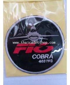 อาร์มผ้ากองทัพอากาศ F-16 COBRA 403TFS