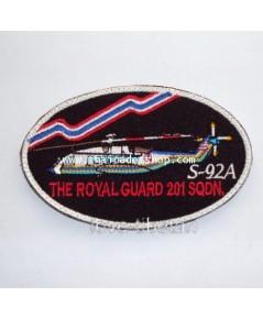 อาร์มผ้ากองทัพอากาศ S-92A THE ROYAL GUARD 201 SQDN.