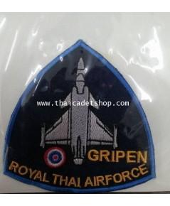 อาร์มผ้ากองทัพอากาศ กริเพ่น GRIPEN WING 7 RTAF