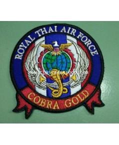 อาร์มผ้ากองทัพอากาศ คอบบร้าโกล์ Cobra Gold