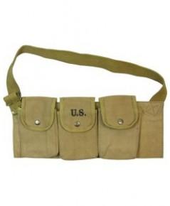 ซองกระสุนปืนทหารอเมริกา M1937 BAR Magazine Ammo Belt