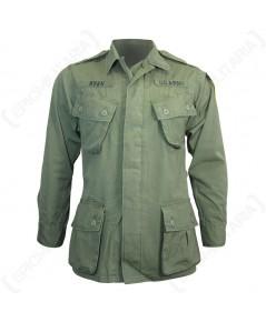 เสื้อกระเป๋าเฉียงทหารอเมริกา สงครามเวียดนาม US Olive Green Tropical/Jungle Jacket - Vietnam Era