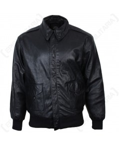 ชุดนักบินทหารอเมริกา สงครามโลกครั้งที่ 2 Black US Pilots A2 leather Jacket - Repro