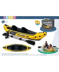 เรือคายัค Intex  รุ่นเรือยาง Intex Explorer  K2  (123 L x 36 W x 20 H) สีเหลือง/ดำ
