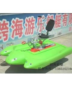 จักรยานปั่นทางน้ำ (boat  bike)