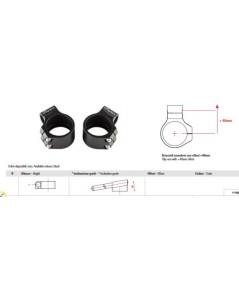 แฮนด์จับโช้ค Lightech  สีดำ สำหรับโช้คขนาด 50mm R6 2017+