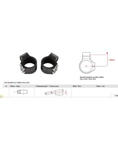 แฮนด์จับโช้ค Lightech  สีดำ สำหรับโช้คขนาด 50mm R6