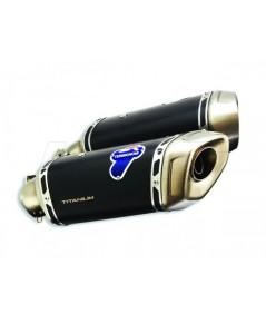 ท่อ Termignoni แบบสลิปออนคู่ สำหรับ Hyper 950 ไทเทเนียมดำ