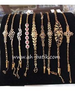 รวมสร้อยข้อมือเพชรซีกโบราณ สร้อยข้อมือเพชรโบราณ Peranakan nyonya jewelry