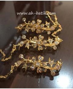 เข็มกลัดเพชรแท้โบราณ(กอรอสัง)Kerongsang Diamond