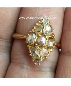 แหวนเพชรซีกโบราณ(จินเจนอินตัน)
