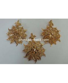 จี้เพชรซีกโบราณหรือบินตัง Peranakan nyonya jewelry