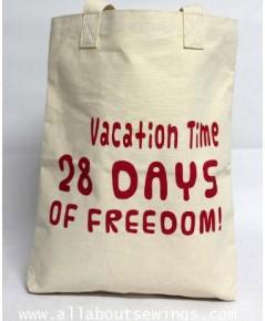 กระเป๋าผ้าแคนวาส - 28 Days of freedom