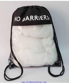 กระเป๋าเป้ผ้าร่มหูรูด เเบบ pvcใส
