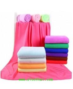 ผ้าเช็ดตัวนาโนสีพื้น