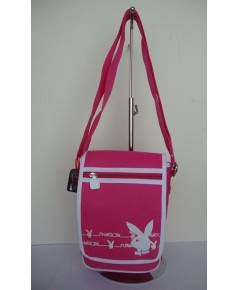 PLAYBOY LADIES HOT PINK MESSENGER BAG