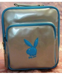 กระเป๋าเป้ PLAYBOY SILVER/BLUE VINYL BACKPACK