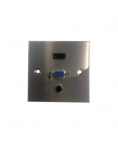 HDMI, VGA WITH MINI JACK WALL PLATE รุ่น  IW-HVA